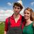 typisch · nederlands · landschap · landbouwer · paar · koeien - stockfoto © ivonnewierink