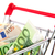 Euro · bankjegyek · bevásárlókocsi · drága · különböző · értékek - stock fotó © ivonnewierink