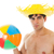 menino · jogar · vôlei · bola · diversão · energia - foto stock © ivonnewierink