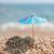 schaduw · strand · Blauw · chinese · papier · parasol - stockfoto © ivonnewierink