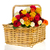colorful bouquet roses in basket stock photo © ivonnewierink