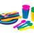 színes · műanyag · kanalak · fehér · terv · konyha - stock fotó © ivonnewierink