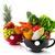 groß · Tassen · Obst · Gemüse · schwarz · rot - stock foto © ivonnewierink