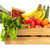 rouge · vert · pommes · bois · boîte · fraîches - photo stock © ivonnewierink