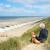 adam · plaj · renkli · ada · Fransa - stok fotoğraf © ivonnewierink