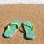 praia · sandálias · água · linha · verão - foto stock © ivonnewierink