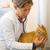 rojo · gato · veterinario · médico · veterinario · clínica - foto stock © ivonnewierink