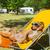 kutya · napozás · fedélzet · szék · piros · esernyő - stock fotó © ivonnewierink