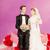 marsepein · bruidstaart · geïsoleerd · witte · voedsel · bruiloft - stockfoto © ivonnewierink
