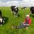 jóvenes · agricultor · portátil · campo · vacas · de · trabajo - foto stock © ivonnewierink
