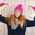 女性 · 冬 · 氷 · スケート · 肖像 · ピンク - ストックフォト © ivonnewierink