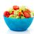 混合した · サラダ · 白 · 背景 · 緑 · 唐辛子 - ストックフォト © ivonnewierink