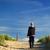 kıdemli · adam · yürüyüş · köpek · plaj · araba - stok fotoğraf © ivonnewierink