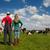 típico · holandés · paisaje · agricultor · Pareja · vacas - foto stock © ivonnewierink