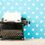 zwarte · toetsenbord · Blauw · exemplaar · ruimte - stockfoto © ivonnewierink
