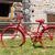 piros · bicikli · ház · tengerpart · cirkáló · kerítés - stock fotó © ivonnewierink