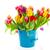 красочный · тюльпаны · красный · ваза · изолированный · белый - Сток-фото © ivonnewierink