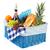 picknickmand · gezonde · voeding · brood · vers · fruit · wijn · glas - stockfoto © ivonnewierink