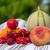 フルーツ · 甘い · 赤 · チェリー · 青 - ストックフォト © ivonnewierink