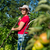 kobieta · jabłka · owoce · młodych · sam · młodzieży - zdjęcia stock © ivonnewierink