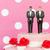 esküvői · torta · menyasszony · vőlegény · közelkép · részlet · szeretet - stock fotó © ivonnewierink