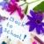 terug · naar · school · bloemen · vrolijk · Blauw · paars · kleuren - stockfoto © ivonnewierink