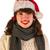 女性 · 冬 · 氷 · スケート · 帽子 · サンタクロース - ストックフォト © ivonnewierink