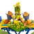 boş · plakalar · çanaklar · mavi · ahşap · üst - stok fotoğraf © ivonnewierink