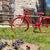 rojo · bicicleta · casa · playa · crucero · cerca - foto stock © ivonnewierink