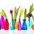 красочный · цветы · бутылок · мало · красный · синий - Сток-фото © ivonnewierink