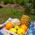stilleven · houten · dienblad · vruchten - stockfoto © ivonnewierink