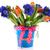 buket · mavi · kırmızı · yalıtılmış · beyaz · çiçekler - stok fotoğraf © ivonnewierink
