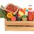wooden crate dairy groceries stock photo © ivonnewierink