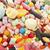 красочный · конфеты · текстуры · фон · белый · кокосового - Сток-фото © ivonnewierink