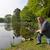 sport · pêcheur · canne · à · pêche · homme - photo stock © ivonnewierink