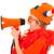 holland · futball · rajongó · gyermek · narancs · megafon - stock fotó © ivonnewierink