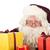 kerstman · presenteert · portret · gezicht · bril · witte - stockfoto © ivonnewierink
