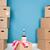 habitación · vacía · espacio · de · la · copia · pared · casa · cartón - foto stock © ivonnewierink