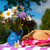 pembe · çizgili · bez · moda · tablo · kumaş - stok fotoğraf © ivonnewierink