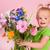 dziewczyna · kwiaty · portret · bukiet · ogród - zdjęcia stock © ivonnewierink