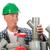 komik · tesisatçı · tamir · çamaşırhane · makine · adam - stok fotoğraf © ivonnewierink