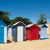 plaj · ada · Fransa · renkli · mavi · kum - stok fotoğraf © ivonnewierink