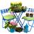 kertészkedés · szett · kerti · eszközök · virágok · virág · ház - stock fotó © ivonnewierink