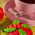 zöld · tea · minitorták · málna · minitorta · mandulák · közelkép - stock fotó © ivonnewierink