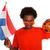 holland · futball · rajongó · fiatal · srác · narancs · férfi - stock fotó © ivonnewierink