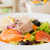 креветок · овощей · морепродуктов · блюдо · брокколи · спаржа - Сток-фото © ivonnewierink