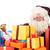 kerstman · presenteert · portret · achtergrond · bril · witte - stockfoto © ivonnewierink