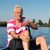 ouderen · man · boot · naar · cruise - stockfoto © ivonnewierink