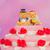 bruidstaart · paar · roze · rode · rozen · top · bloemen - stockfoto © ivonnewierink