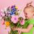 bahçe · çiçekler · karışık · buket · küçük · kova - stok fotoğraf © ivonnewierink